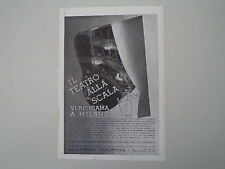advertising Pubblicità 1936 ALBERO TOURING MILANO E TEATRO ALLA SCALA