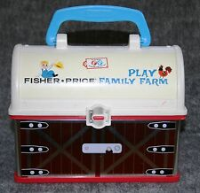 Vintage Original Fisher Price Toy Family Farm Barn Lunch Box Exceptional Find !!