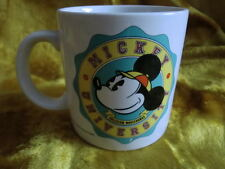 Mickey University Mouse Disney Mug Cup Glass with Box Applause Vintage 1985