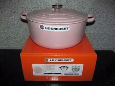 Le Creuset Chiffon Pink  5-1/2 Qt  5.5 Qt (5.3L) # 26 Round Dutch Oven Gorgeous