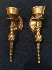 VINTAGE ESTATE FIND PR OF BEE HIVE STYLE WALL SCONCES; HOLLYWOOD REGENCY