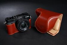 Handmade Genuine real Leather Full Camera Case bag Cover for Panasonic LX100