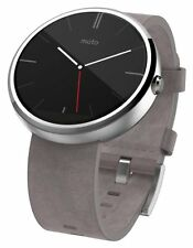 2 Month Used Motorola Moto 360 Smartwatch 1st Gen Grey Strap - More than 50% Off