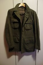 Vintage Swedish Army Wool Jacket - Grey - Small