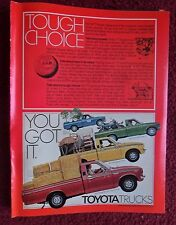 1977 Print Ad Toyota Pickup Trucks ~ Long Bed Deluxe, SR-5 Sport, Long Bed SR-5