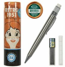 Retro 51 #VRP-1315 / Lacquered Stainless Tornado 1.15 mm Lead Pencil
