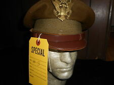 WWII  Crusher Cap Size 7 1/4 Military
