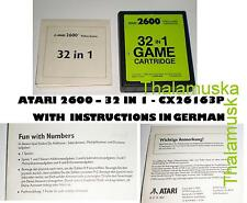 ATARI 2600 - 32 in 1 CX26163P GAMES cartridge modul VCS INSTRUCTIONS IN GERMAN