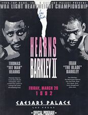Thomas Hearns Iran Barkley On Site Boxing Program March 20, 1992