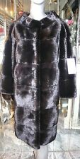 BREATHTAKING Ranch MINK FUR Coat SAGA ROYAL MINK Horizontal Design