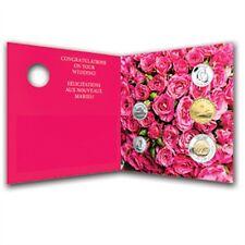 Glückwunschkarte Trauung Heirat Karte Hochzeitskarte GrußKarte mit Münzen NEU