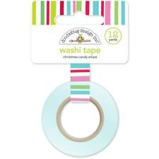 Doodlebug ~ HERE COMES SANTA CLAUS ~ Washi Tape ~ Christmas Candy Stripe