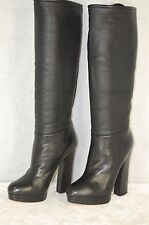 SUPER BEAUTIFUL!! CASADEI HIGH HEEL PLATFORM FOLDED BOOTS EU 36.5  US 6.5