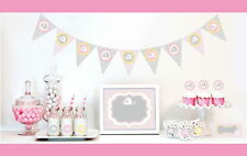 Pink Elephant Baby Shower Party Decorations Starter Kit