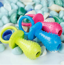 Bite Resistant Bell Rubber Pacifier Pet Dog Puppy Molar Chew Training Toys