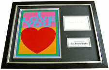 SIR PETER BLAKE Signed FRAMED Photo Mount Display AUTOGRAPH i Love You Art & COA