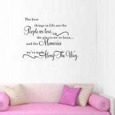 English Lettle Quote Decal Vinyl DIY Art Wall Sticker Bedroom Home Room Decor