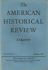 American Historical Review 1950 January-Macmillan Co Napoleon/London & 20 Ships
