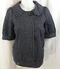 Women's Lux Gray & Black Jacket NWT Size Medium M Urban Outfitters Short Sleeve