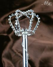 Sparkling Scepter Wand Rhinestone Crystal Pageant Wedding Party Costumes Sceptre