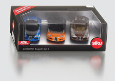 Siku Bugatti Veyron Set 2 BLUE, ORANGE, BROWN (New & Sealed) 1:55 (Item # 1305)