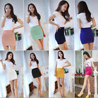 Women Sexy Mini Skirt Slim Seamless Stretch Tight Short Fitted Skirt one HS