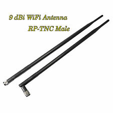 9dBi 2.4G WiFi Antenna Booster RP-TNC Male For Linksys Router Receiver x 2