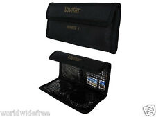 Vivitar Filter Case/Pouch for Glass Filters up to 72mm Black - Holds 4 Filters