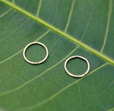 Nose Ring Hoops-Helix-Tragus Earrings ONE PAIR -14k Yellow Gold Filled 24g 7mm