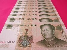 China Paper Money 10 PCS Set 1 Chinese Yuan Each China Currency