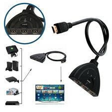 SWITCH HDMI COMPUTER TV 1080p FULL HD SDOPPIATORE MULTIPLO ADATTATORE 3 PORTE