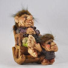 Troll SCULTURA statuina piccola sedia a dondolo interni esterni giardino Magic 80013