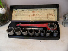Antique Ratchet Socket Wrench Set Box Accles & Pollock for  British Classic Cars