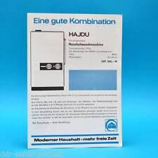 Waschmaschine Hajdu Schleuder Zentrix l DDR 1965 | Prospekt Werbung Werbeblatt