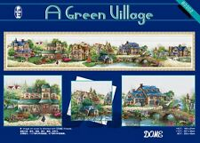A Green Village Large Counted Cross stitch kit 176cm X 38cm