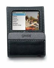 Gear4 Leather Jacket Flip Black Premium Leather Case For the iPod Nano 3rd Gen