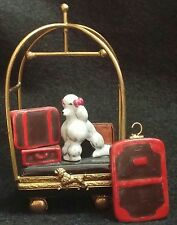 LIMOGE BOX BELLMAN CART WITH DOG MADE IN FRANCE