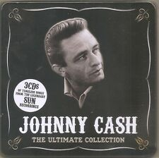 """JOHNNY CASH """"The Ultimate Collection"""" 3CD Tin Can Box sealed"""