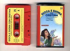 GIOCA E SUONA CON CRISTINA D'AVENA Musicassetta 25 OTTIMO Mc Audiocassetta 1989