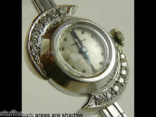 Reduced~ Ladies 14Kt white Gold Diamond Hamilton Watch + 14Kt band Vintage 1960s