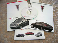 PONTIAC OFFICIAL G6 & TORRENT PRESS KIT CD AND BROCHURE 2006 USA EDITION