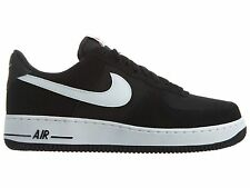 Nike Air Force 1 Mens 820266-012 Black White Leather Low Athletic Shoes Size 9