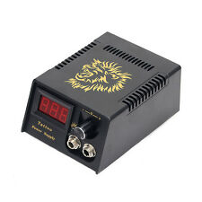 Professional Tattoo Machine LCD Digital Display Mini Power Supply Box Cable ED