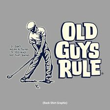 "OLD GUYS RULE "" SWING GUY "" GOLF CLUBS BAG BALLS IRONS WOODS S/S XXL"