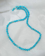 "MEXICAN CAMPITOS TURQUOISE & BOULDER ROUND BEADS - 17.75"" Strand - 020C"