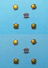 10 x micro pulsanti microswitch N.A. 4 pin 4,8 x 4,8 x 0,75 mm SMD SMT tastini