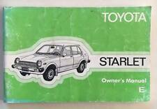 Original Genuine Toyota Starlet KP60 RWD Bugeye, Factory UK Owners Manual. RARE!