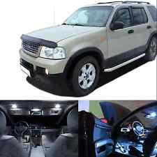 LED White Lights Interior Package Kit For Ford Explorer 2002-2009 (11 pcs)