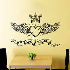 Wall Decals Love Hurts Vinyl Stickers Valentine's Day Home Bedroom Decor CC110