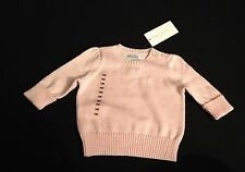 POLO RALPH LAUREN PIMA COTTON PINK SWEATER 3M RRP £65 NOW £32.50